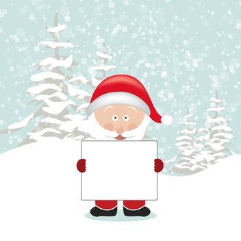Santa Holding Empty Board - vector gratuit #340771