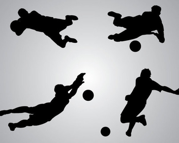 Goal Keeper Saving Goals - Free vector #340951