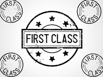 First ClassStamps - vector #340961 gratis