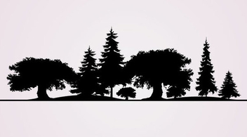 Tree Silhouettes - бесплатный vector #340981