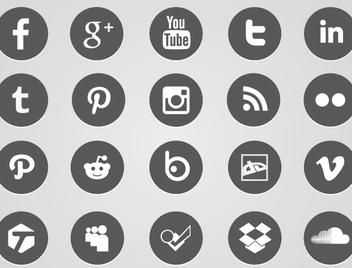 Circular Web Icons - vector #341011 gratis