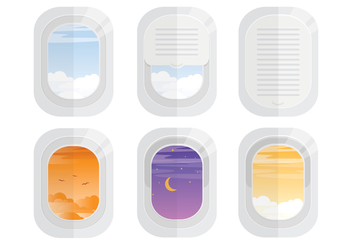 Plane Window Vectors - Free vector #341391