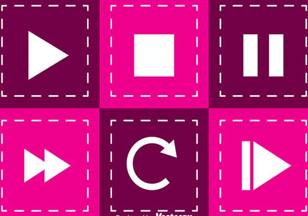 Media Player Square Button - Kostenloses vector #341711