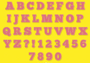 Pink Stitch Style Alphabet Set - Free vector #341741