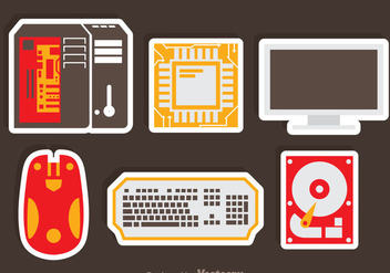 Computer Flat Icons - Free vector #341911