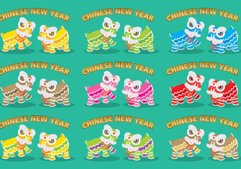 Chinese Lions - vector #341991 gratis