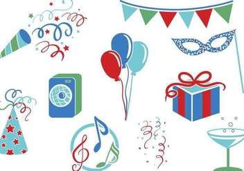 Free Party Vectors - vector gratuit #342001