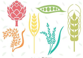 Cereals Plant Set - Kostenloses vector #342301