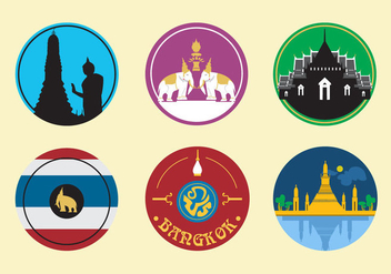 Bangkok City Icons - vector gratuit #342341