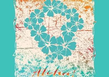 Card Aloha - vector gratuit #342351