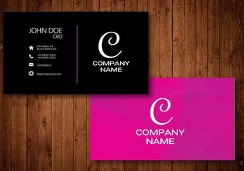 Creative Business Card with Glow colorful background - Free vector #342391