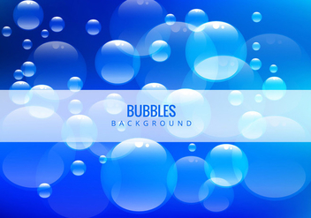 Water bubbles on blue background - vector gratuit #342401