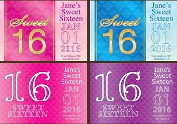 Sweet 16 Flyers - бесплатный vector #342621