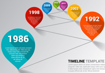 Free Timeline Template Vector - Free vector #342631