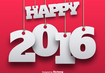 New Year Hanging Background - vector gratuit #342801