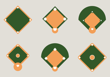 Free Baseball Diamond Vector Illustration - Free vector #342981