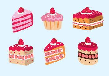 Strawberry Shortcake Vector - Free vector #343031