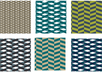 Herringbone Pattern Blue Vector - Free vector #343041