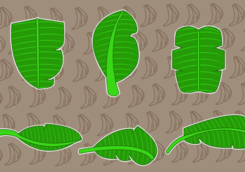 Tropical Banana Leaf Vectors - vector gratuit(e) #343101