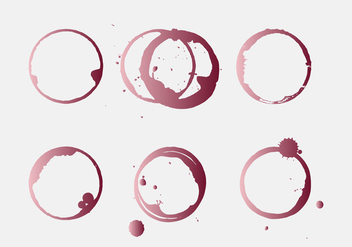 Vector Wine Stain - Free vector #343201