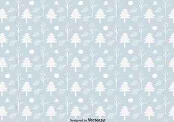 Christmas Tree Seamless Pattern - Free vector #343271