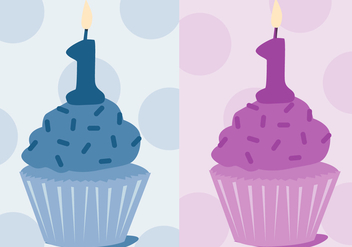 Free First Birthday Vector - vector gratuit #343311
