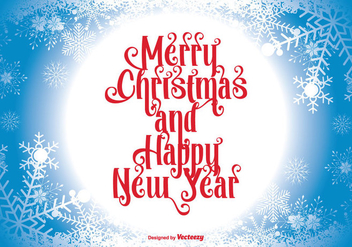 Merry Christmas llustration - Free vector #343351