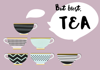 Free Set of Tea Vector Icons - Kostenloses vector #343801