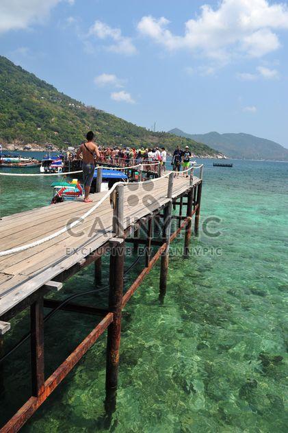 Nangyuan lsland jetée de la plage - image gratuit #343871