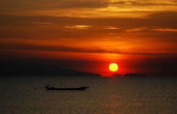 Dark orange sunset - Free image #344121