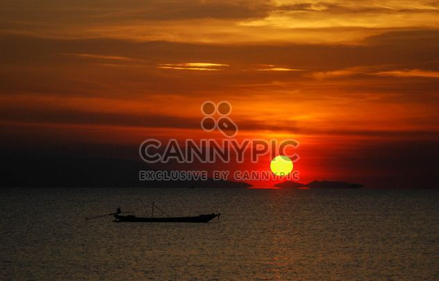 Dark orange sunset - Free image #344121