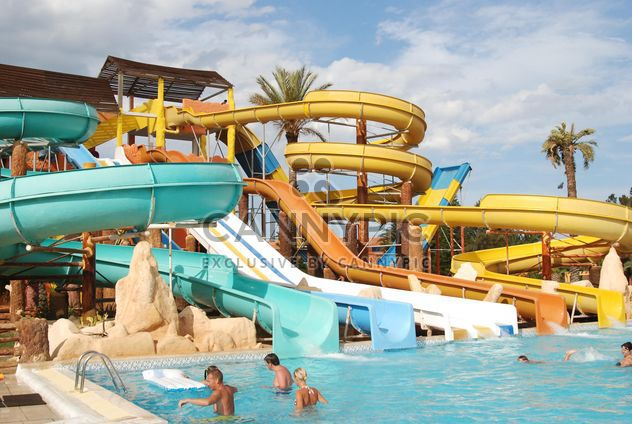 a water park in the Tunisian hotel - бесплатный image #344171