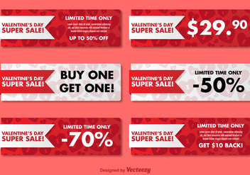 Valentine's Day Sale Banners - vector gratuit #344291