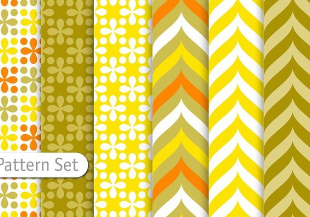 Decorative Colorful Retro Pattern Set - vector gratuit(e) #344341