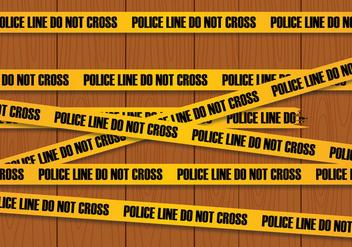 Police Line Vector - Free vector #344791