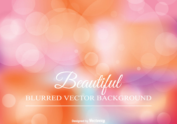 Beautiful Blurred Background Illustration - Free vector #344811