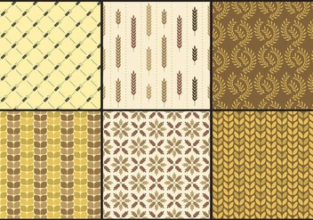Herringbone And Wheat Patterns - vector gratuit #344851