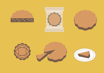 Mooncake Vector Illustrations - vector gratuit #344871