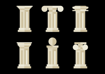 Flat and Minimalist Roman Pillars - vector gratuit #344951