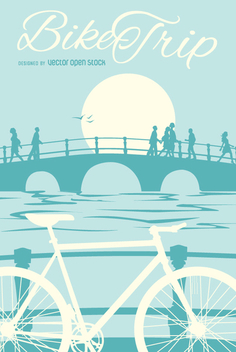 Bike poster - vector gratuit #344961