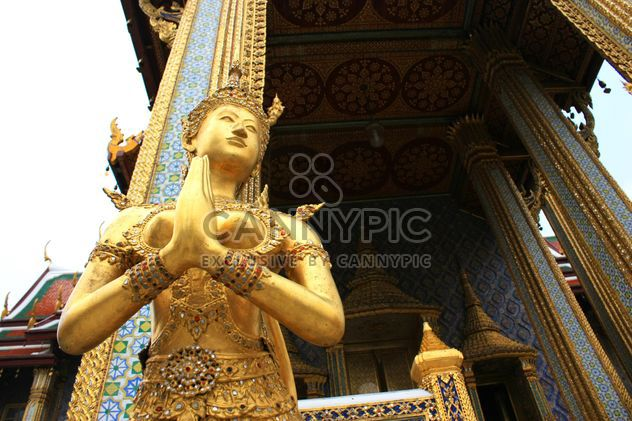 Gold statue at temple in bangkok, Thailand - Free image #345061