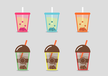 Bubble Tea Vector - Kostenloses vector #345191