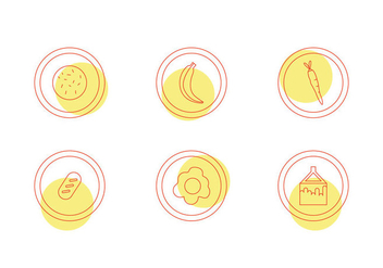 Free School Lunch Vector Icons #5 - Free vector #345211