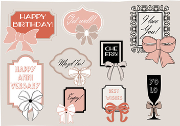 Free Greeting Frames Vector Background with Typography - Kostenloses vector #345241