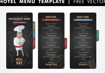 Hotel Menu Template Free Vector - бесплатный vector #345301