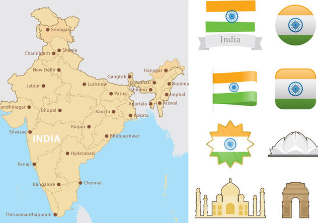 India Map - Kostenloses vector #345311