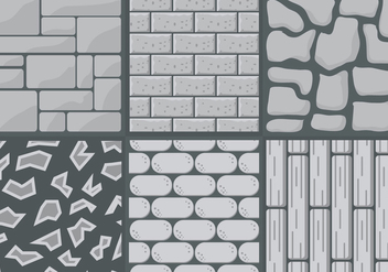 Collection of Stone Path Styles in Vector - Free vector #345381