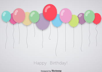 Colorful celebration balloons - Free vector #345491