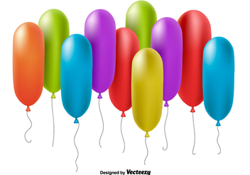 Realistic colorful balloons - vector gratuit #345521