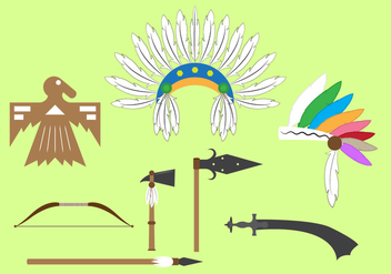 Vector Set of Indian Objects and Elements - vector gratuit #345601